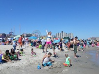 Coney Island Beach Crowd